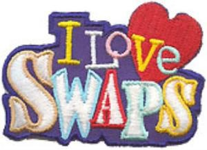 i love swaps patch for girl scouts